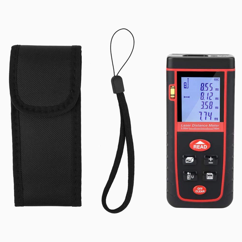 L/áser Tel/émetro Rz-s60m Pantalla LCD rz-s 60M L/áser Medidor de distancia Medidor Medidor de distancia Herramienta de medici/ón Buscador de rango