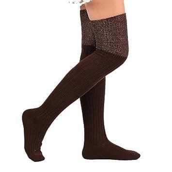 Yosemite manguera de las mujeres suave algodón calcetines por encima de la rodilla Invierno Cálido Sexy