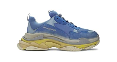 c4e37b6c3b56 Image Unavailable. Image not available for. Colour  TOPSHOD Unisex Mens  Womens Balenciaga Triple S Sneakers Blue