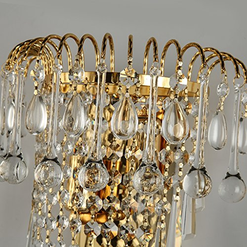 MILUCE Luxury k9 crystal wall lamp European creative living room lights gold led bedside lamps by MILUCE (Image #4)