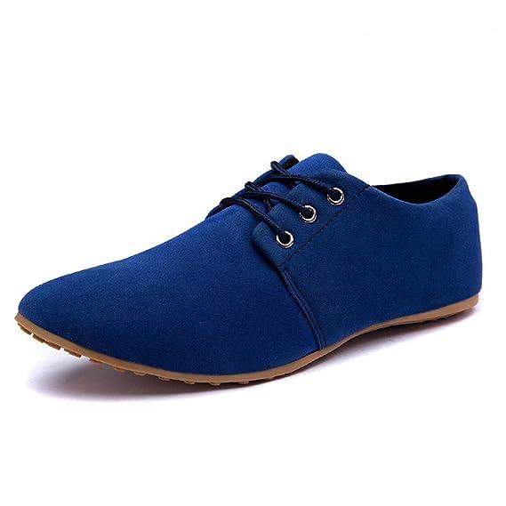 Minetom Mocasines para Hombre Zapatilla Baja Estilo Británico Comodidad Cuero de Boda Con Cordones de Zapatos Planos de Vestir de Negocios: Amazon.es: Ropa ...
