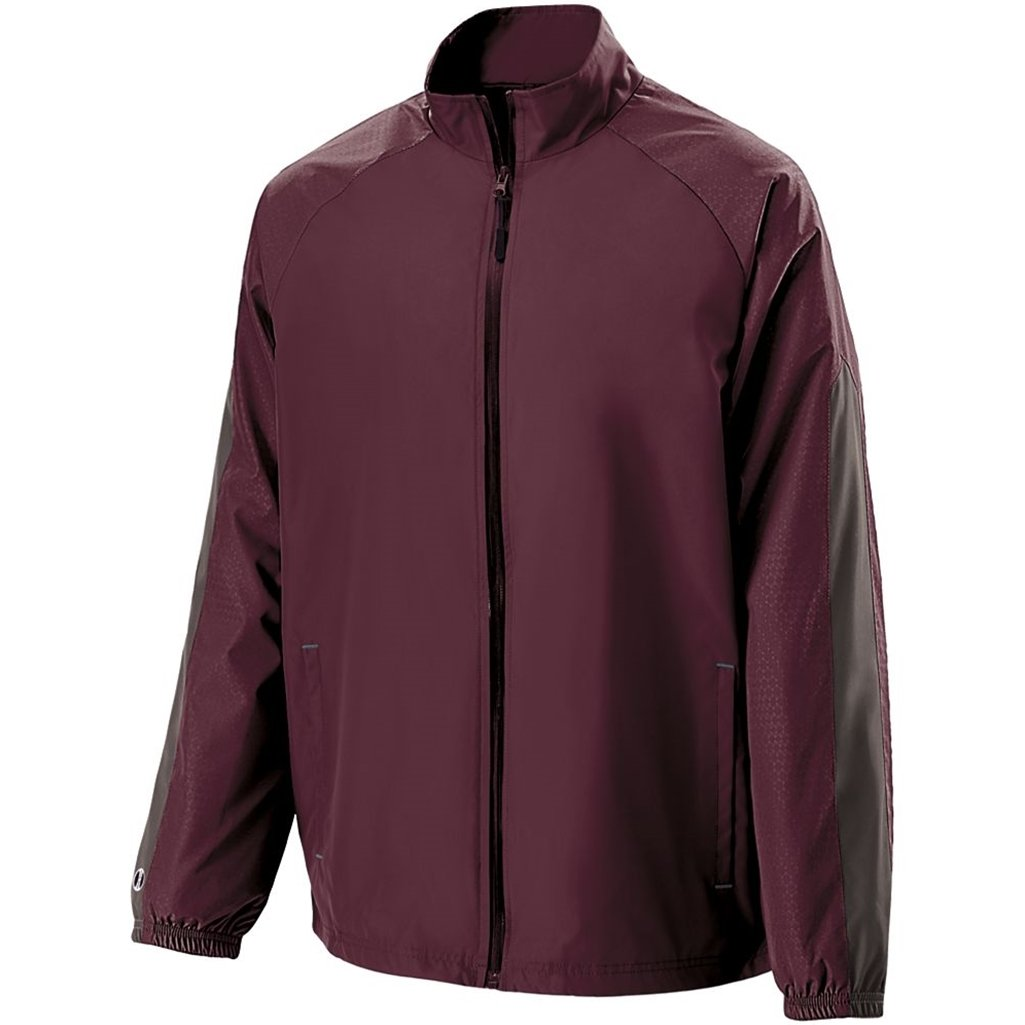 Holloway Youth Bionic Jacket (Large, Maroon/Carbon) by Holloway