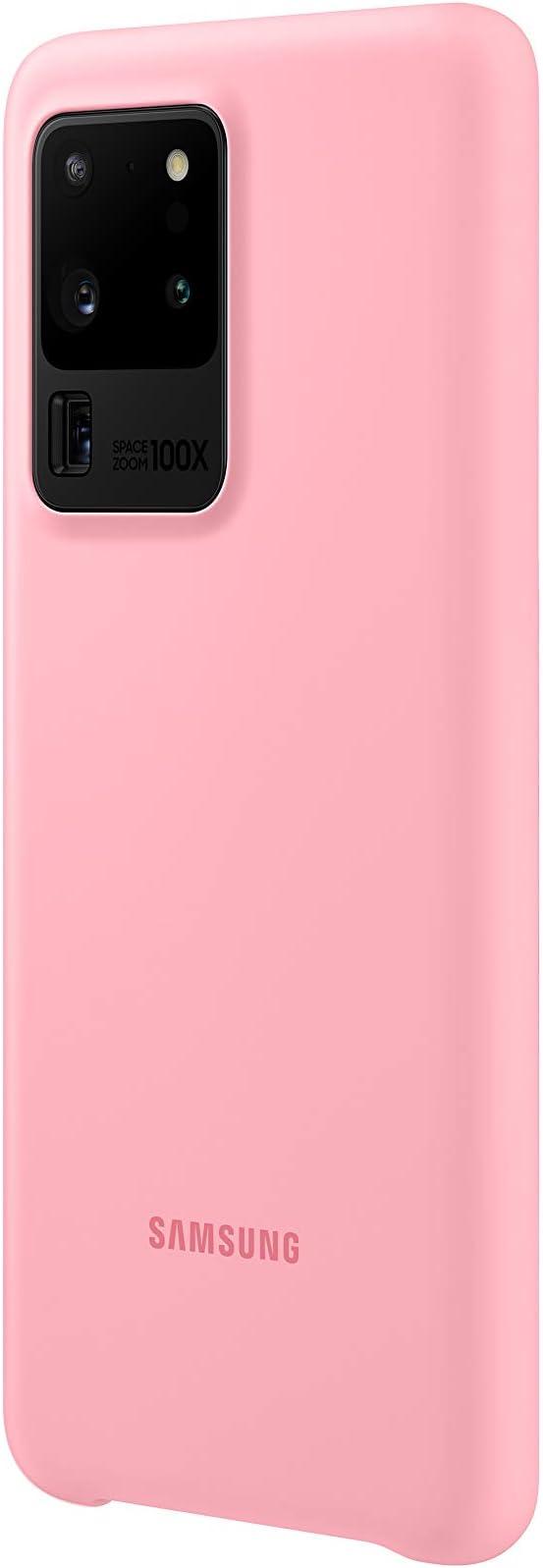 Samsung Silicone Smartphone Cover Ef Pg988 Für Galaxy S20 Ultra Handy Hülle Silikon Schutz Case Stoßfest Dünn Und Griffig Pink Elektronik