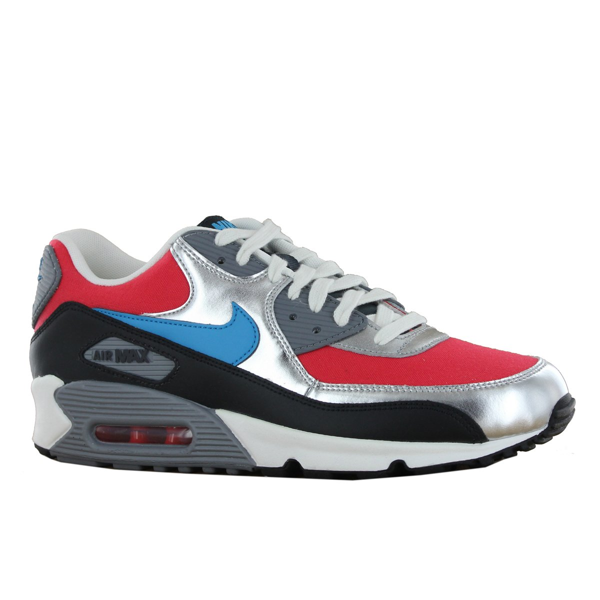 info for 71d3d 16e3e Amazon.com  NIKE Wmns Air Max 90 Silver Hyper Red Turquoise (325213-607)  (5.5 B(M) US)  Track  Field  Cross Country