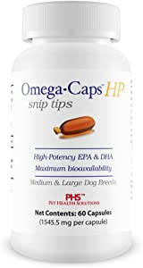 OmegaCaps HP Snip Tips for Medium Large Dogs (60 Capsules)