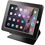 """Smonet iPad Desktop Anti-Theft Security POS Stand Holder Enclosure with Lock and Key for Tablets iPad 2,3,4 and iPad air, iPad air 2, iPad Pro 9.7"""", 360 Degree Rotating (Black)"""