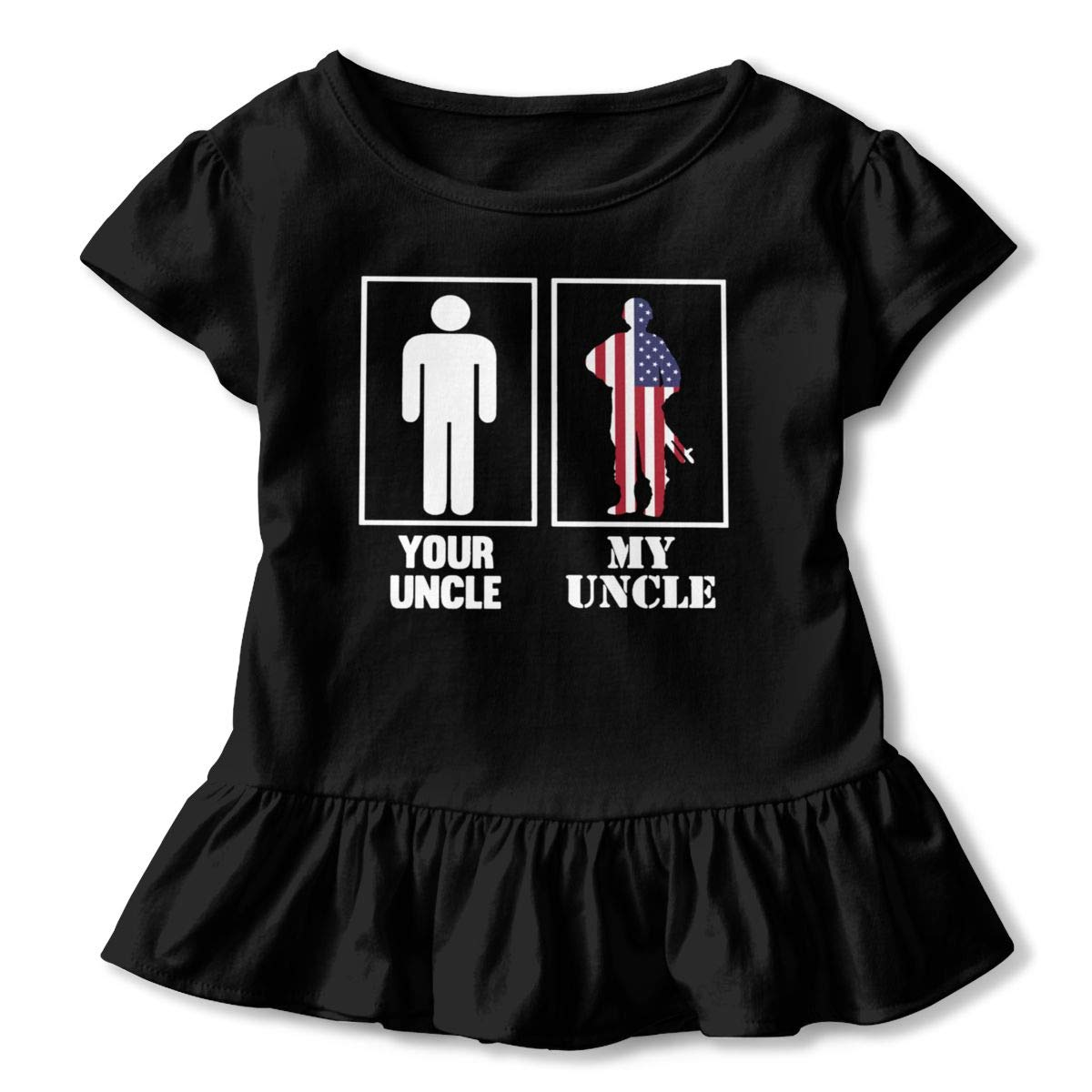 JVNSS Your Uncle My Uncle T-Shirt Kids Flounced T Shirts Soft Outfits for 2-6T Kids Girls