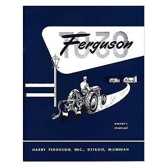 amazon com new massey ferguson tractor owners manual to30 w rh amazon com