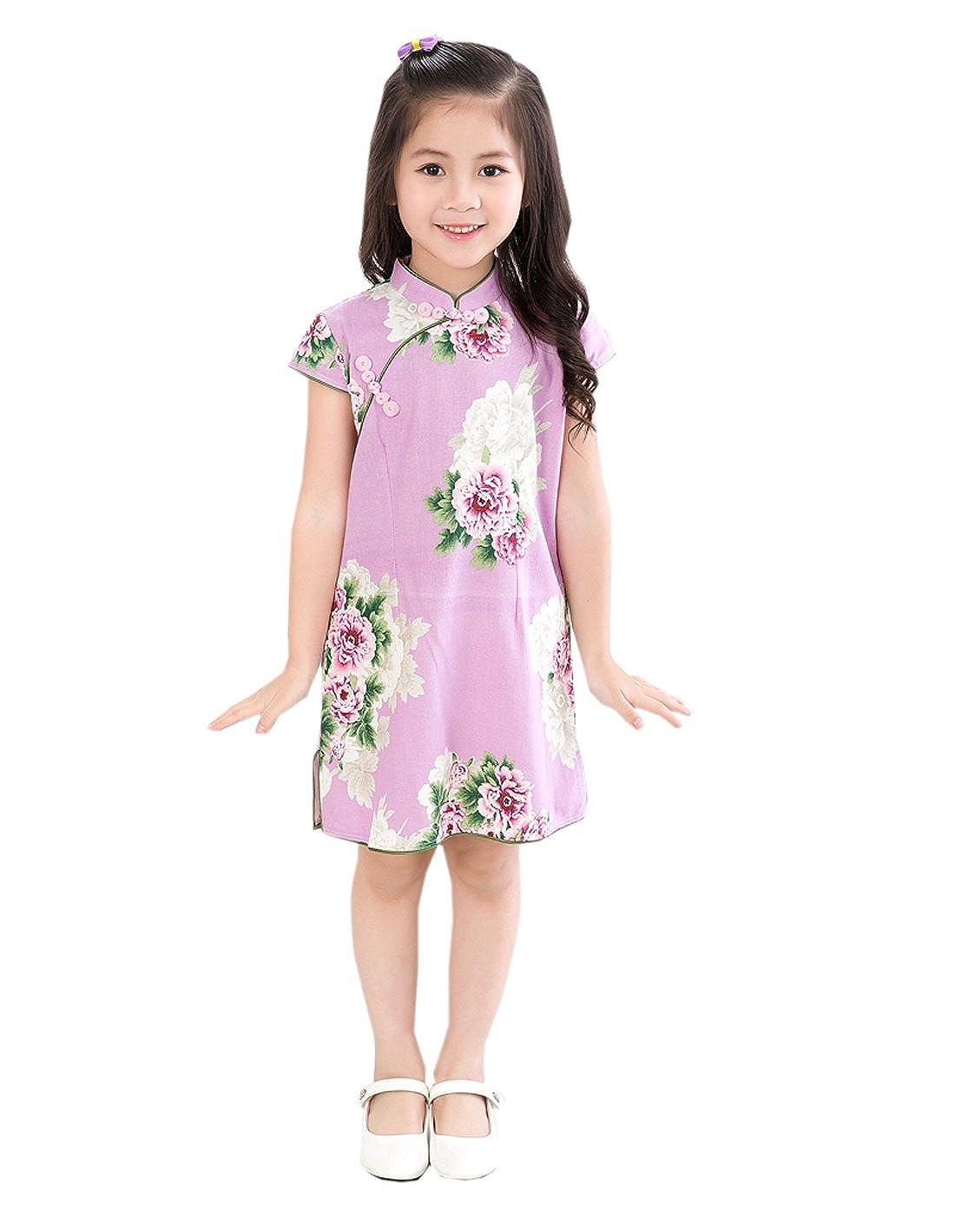 74dc81049de2e XueXian(TM) Little Girl Cotton Short Sleeve Chinese Dress Summer ...
