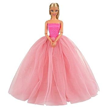 barbie ballkleid pink