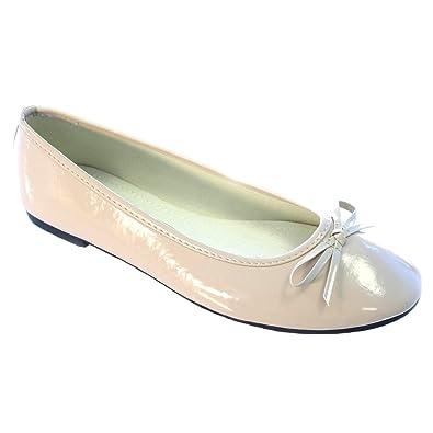 0cd847cf00e Shoes WOMENS PATENT BALLET PUMPS FLATS BLACK NUDE LEOPARD PURPLE BURGUNDY  COMFORTABLE SIZES 3-26