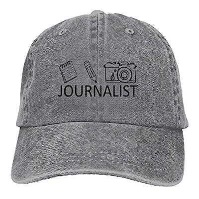 Journalist Geometric Ladies Baseball Cap Fashion Adjustable Snap-Back Hat