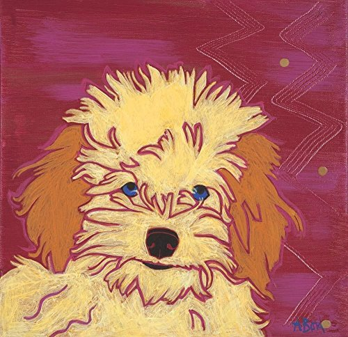 Original Dog Pop Art - Toy Poodle Art Print - Colorful Pop Art Dogs - MATTED Print by Angela Bond