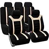 FH GROUP FB070BEIGE115- Fundas de asiento de coche, 11 unidades, color rojo