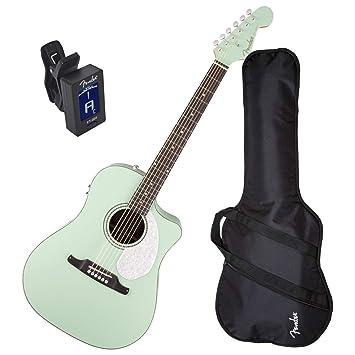 Sonoran Sce Surf verde para guitarra eléctrica w/bolsa de concierto y sintonizador: Amazon.es: Instrumentos musicales