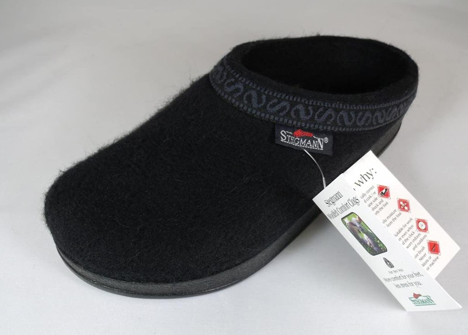 Women's Wool-Flex clog L108p Black Graphite - 2