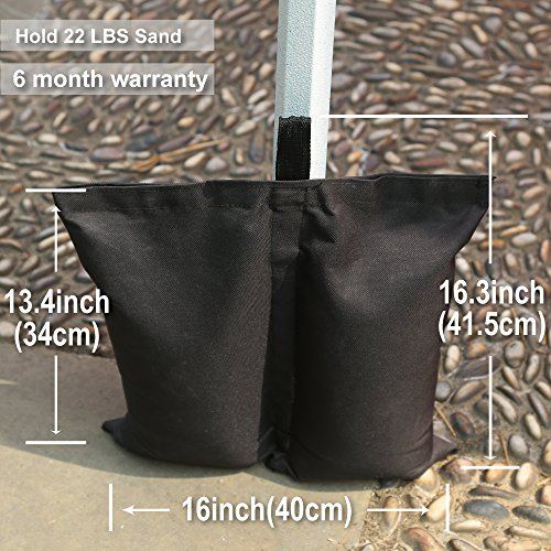Amazon.com  MasterCanopy Set of 4 Weights Bags for Pop Up Portable Folding Canopy Black  Garden u0026 Outdoor & Amazon.com : MasterCanopy Set of 4 Weights Bags for Pop Up ...