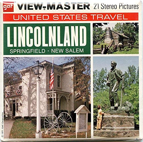 LINCOLNLAND - United States Travel - Springfield-New Salem, Illinois - Classic ViewMaster Reels 3D - unsold store stock - Never opened