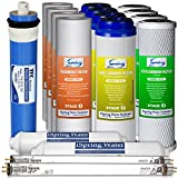 iSpring F17U100 2-Year Replacement Filter Set for 100GPD 6-Stage UV Reverse Osmosis Water Filter, Fits iSpring RCC1UP RCC7U 17pcs 4SED 4GAC 4CTO 2T33 1MC1 2UVB11