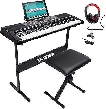 Bakaji - Teclado musical plano electrónico, 61 teclas, piano ...