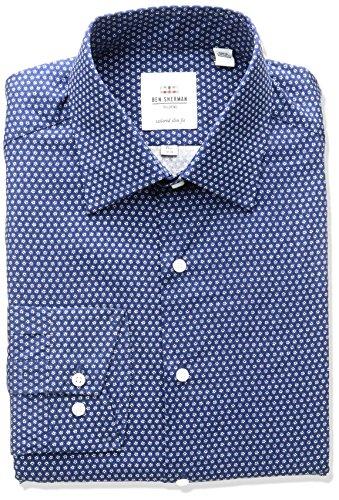 ben-sherman-mens-floral-print-spread-collar-dress-shirt-navy-155-neck-32-33-sleeve