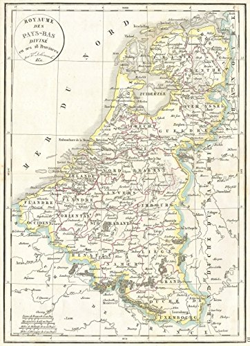 - Historic Map | Delamarche Map of Holland and Belgium, 1832 | Historical Antique Vintage Decor Poster Wall Art | 24in x 36in