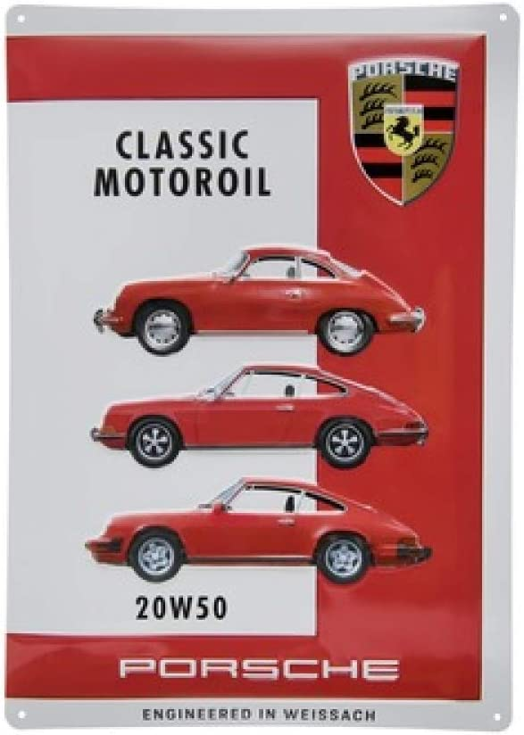 ORIG Porsche Classic Blechschild//metal plate Motor/öl//Motoroil 20W50 400x280mm