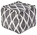 Signature Design by Ashley A1000546 Bruce Pouf, Gray/White