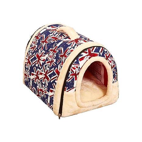 Lorjoy Casa de Perro de la Perrera Jerarquía con Cama del Gato del Perro casero Mat