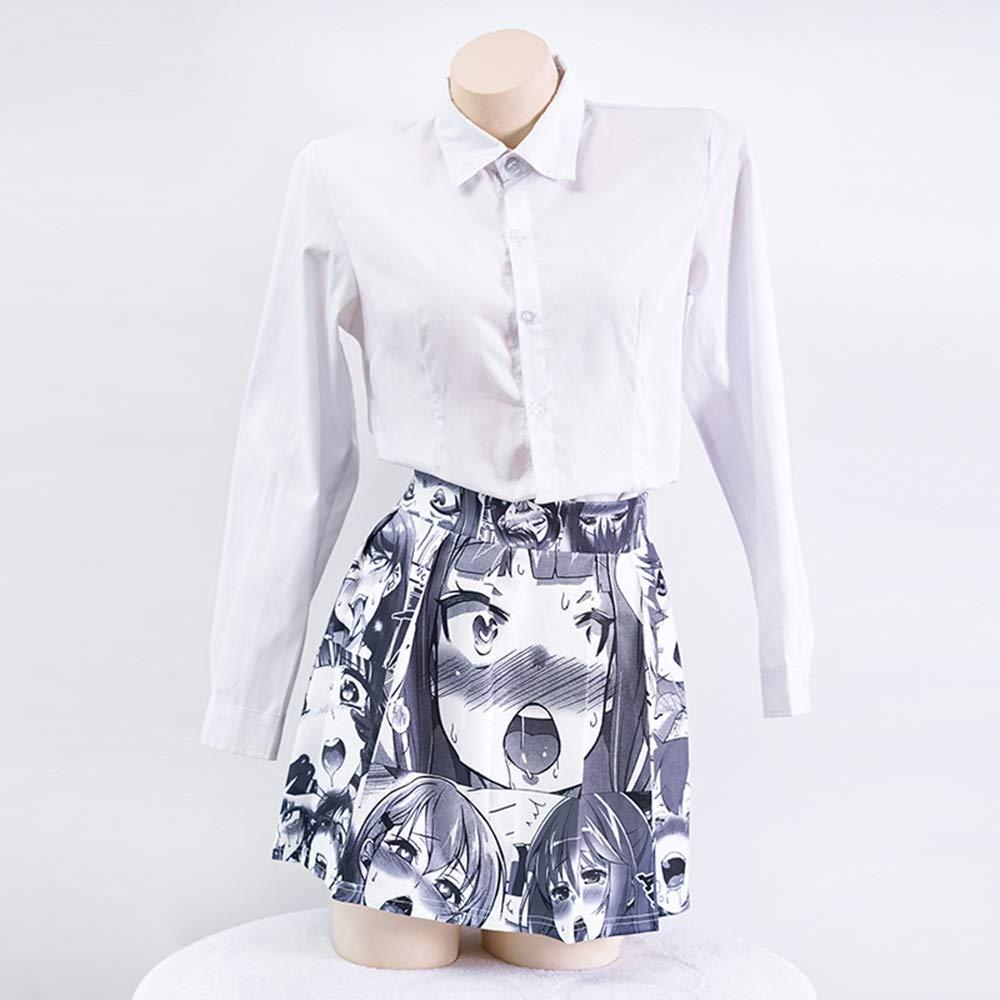Falda plisada linda sexy salvaje japonesa de niña (Color : Gray ...