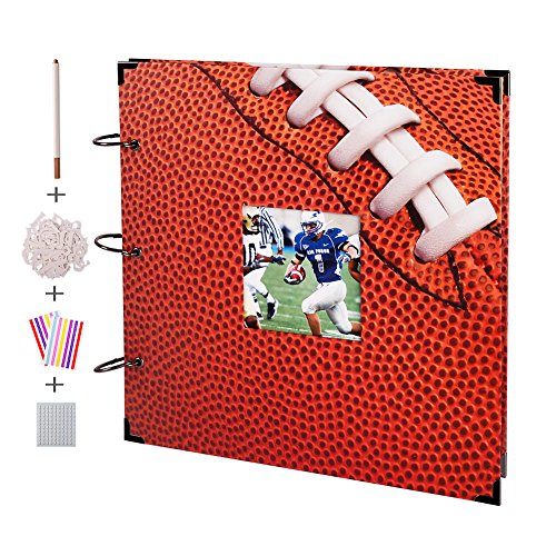 FaCraft American Football Scrapbook Album 12x12 with Window on The Cover
