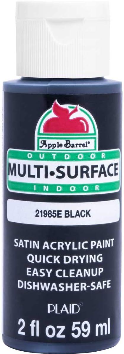 Apple Barrel Multi Surface Acrylic Paint, 2 oz, Black 2 Fl Oz