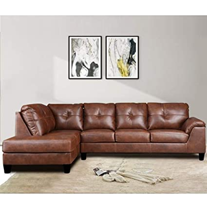 Adonica Romina Six Seater Lhs L Shape Sofa Brown Designer Furniture 3 Yr Assurance Amazon In Home Kitchen