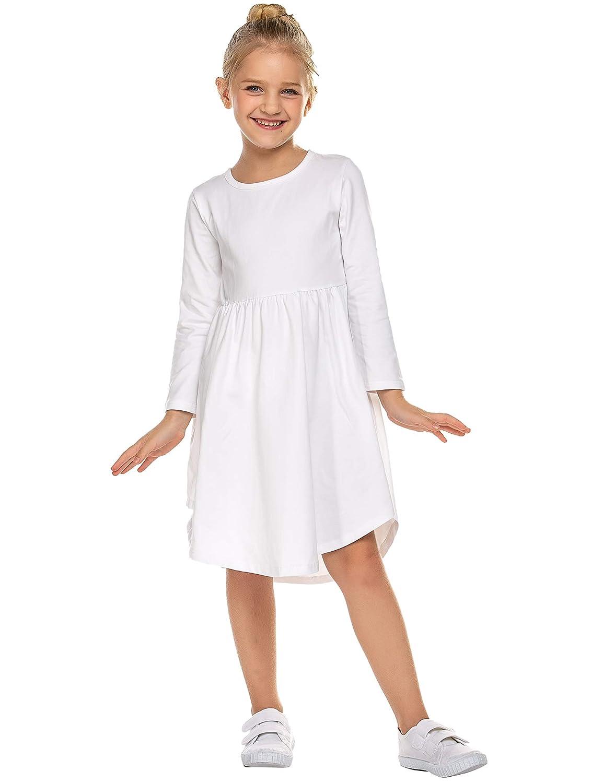Parabler Mädchen Swing Kleider für Kinder Langarm T-Shirt ...