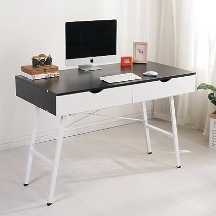 Exceptionnel Soges 47u0026quot; Computer Desk Home Office Desk With Drawers Workstation Desk  Writing Desk Modern Desk