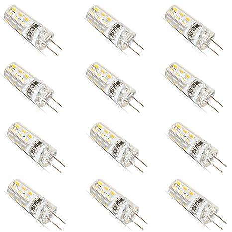 12 bombillas led G4 de 1,5 vatios, CC, 12 V, 3014