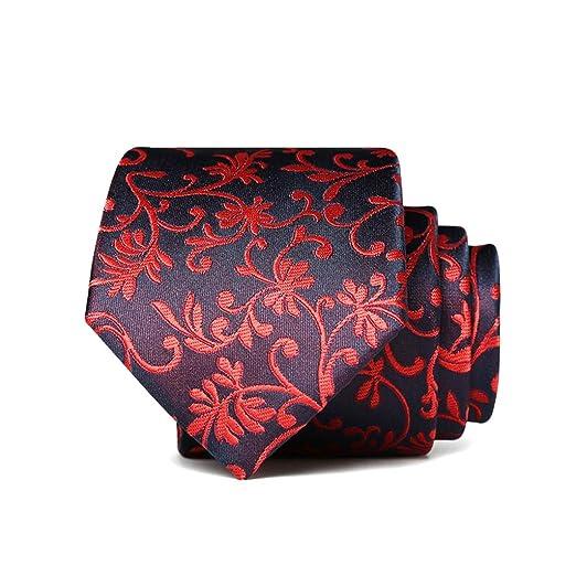 JINGJING Corbata Floral para Hombre La Seda Tejido Jacquard ...