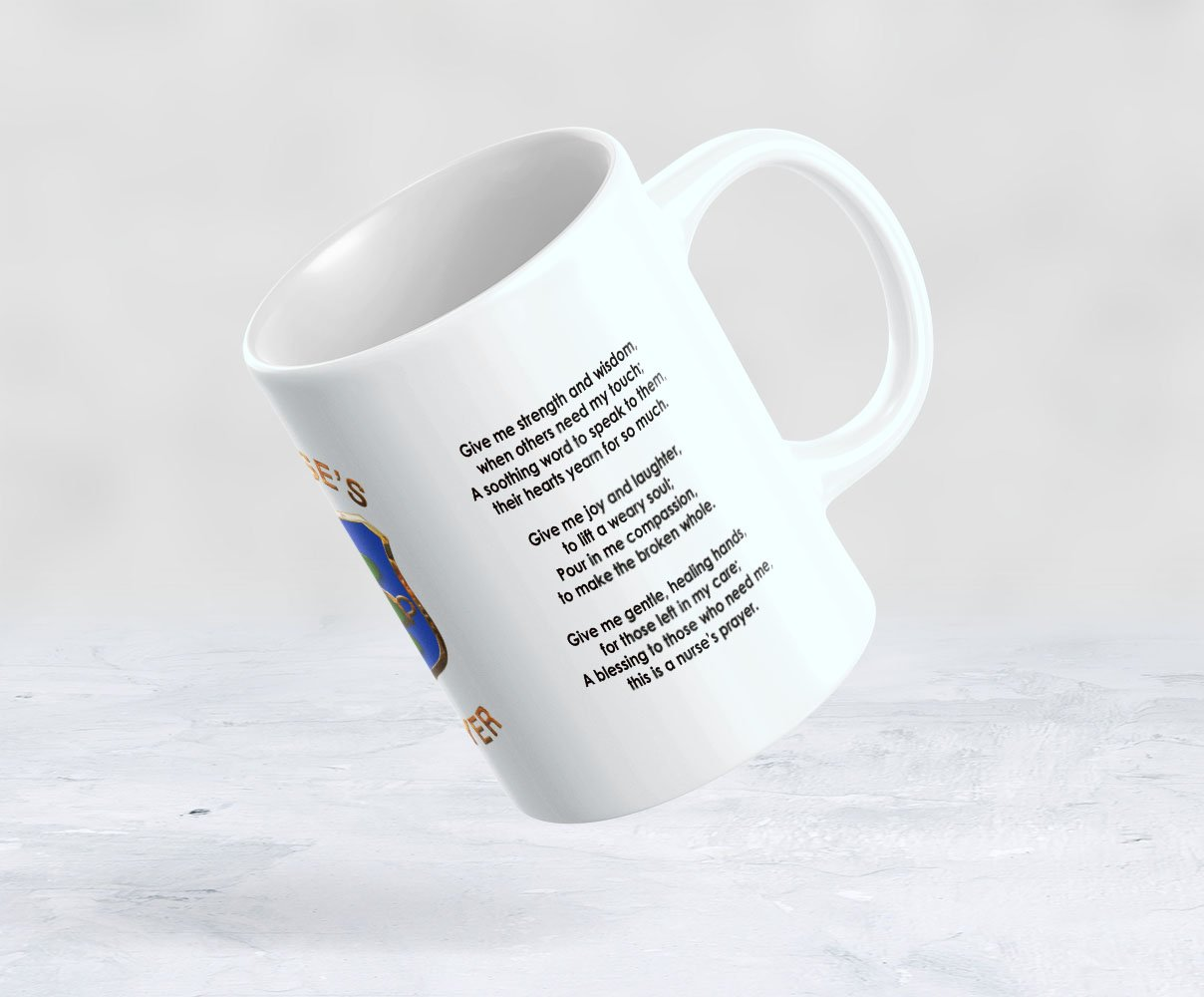 Amazon com: Nurse's Prayer Mug - Give me strength and wisdom