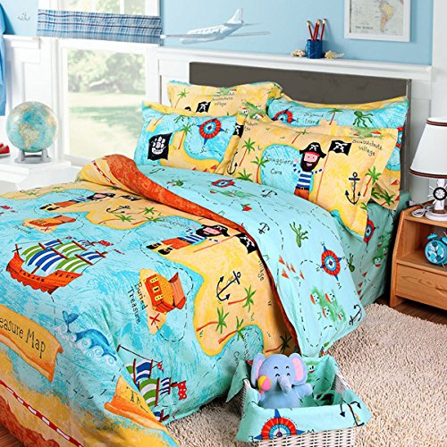 Lowcost 488% Cotton Kids Boys Bedding Set 48 Pieces Kids Duvet Cover Fascinating Cost To Ship Furniture Set