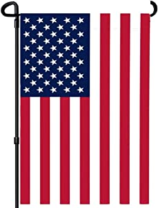 FRF Garden American Flag 4th of July Double Sided 12.5x18 Inch Densely Filled Stars Sewn Stripes Double Stitched Lawn Outdoor US Banner Flag