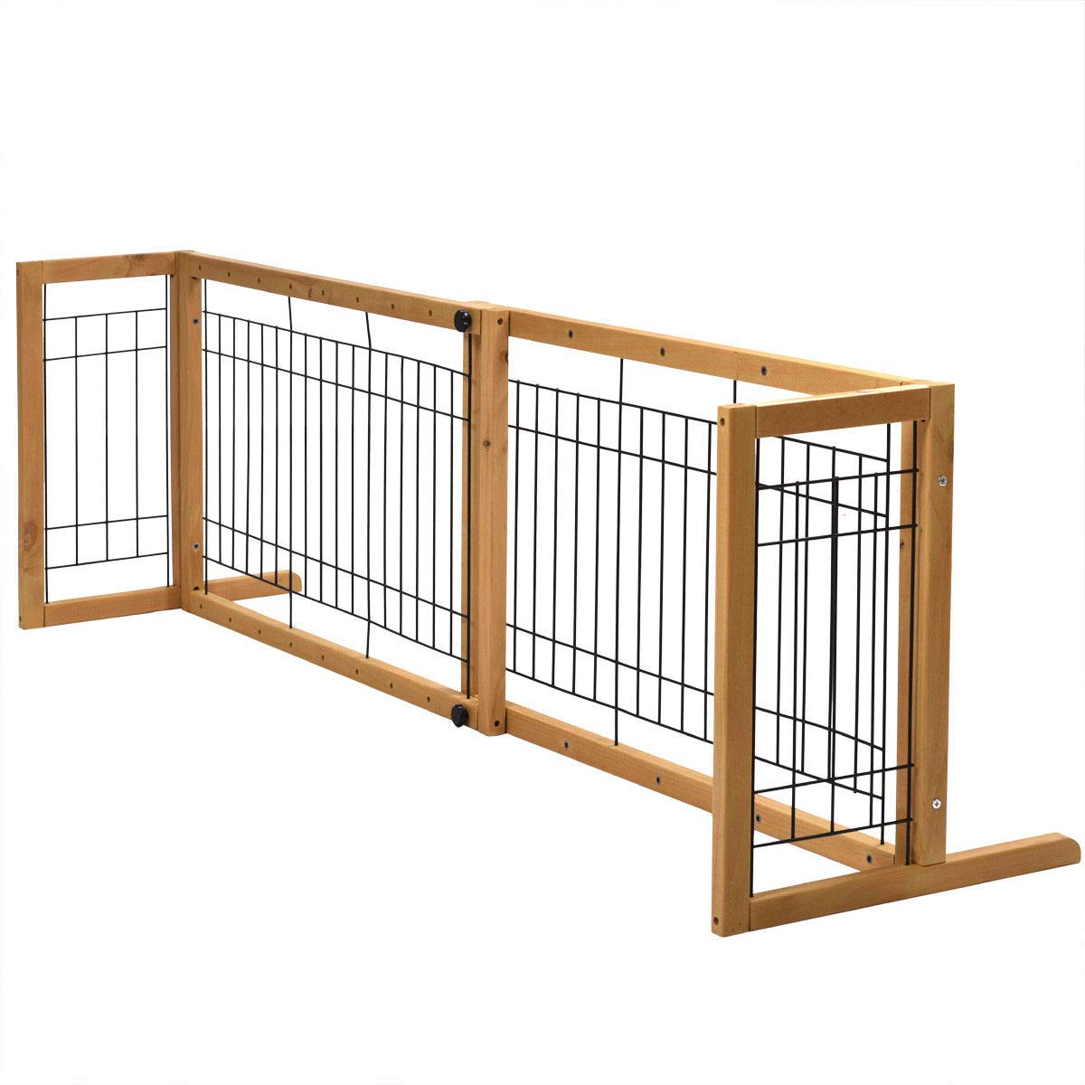 Lapha' Pig Fence Gate Expansion Standing Adjustable Pet Dog Gate Indoor Solid Wood Construction Puerta cerca