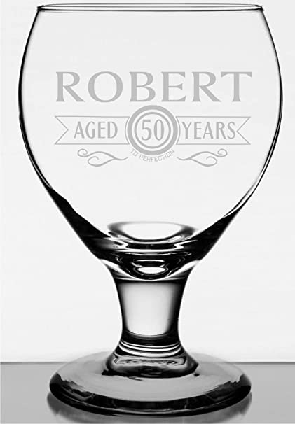 amazon com personalized goblet style beer glass aged to