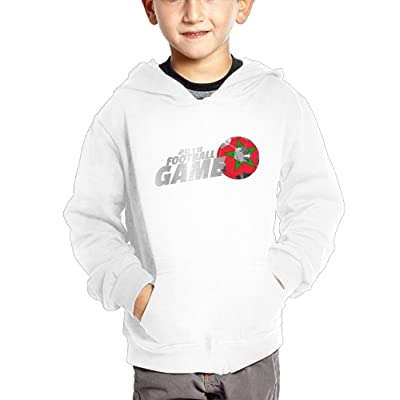 2018 Football Game Morocco Unisex Baby Boys Pullover Hoodies Long Sleeve Sweatshirts with Big Pockets