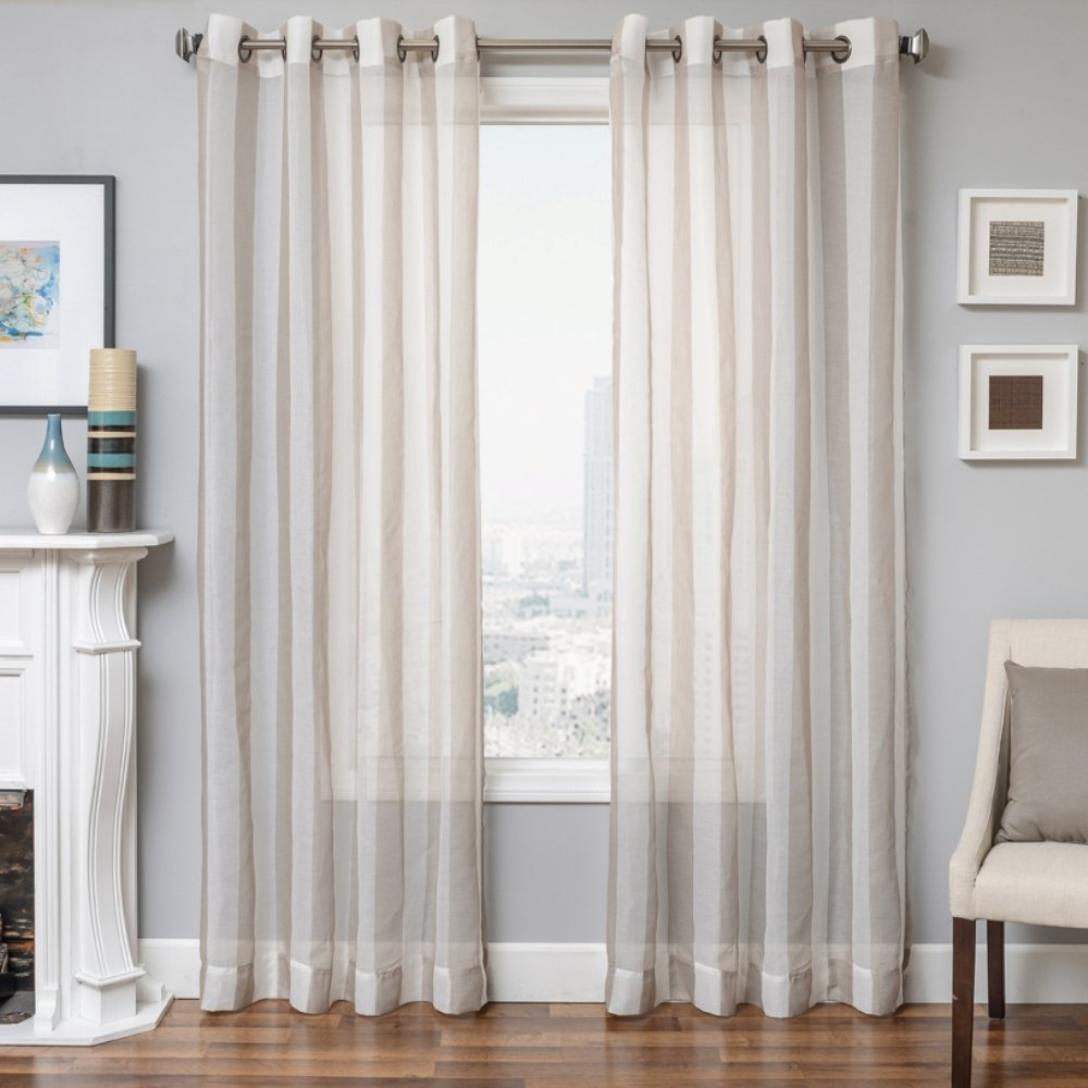 Champagne 50 x 84 50 x 84 925MAL711GUL84 Softline Madera Window Semi Seer//Curtain//Treatment//Drape