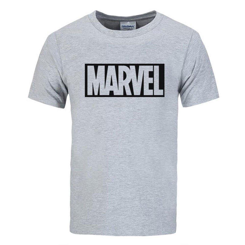 BOMOVO MARVEL Slim Fit Crew Neck Camisetas Polo De Manga Corta ...