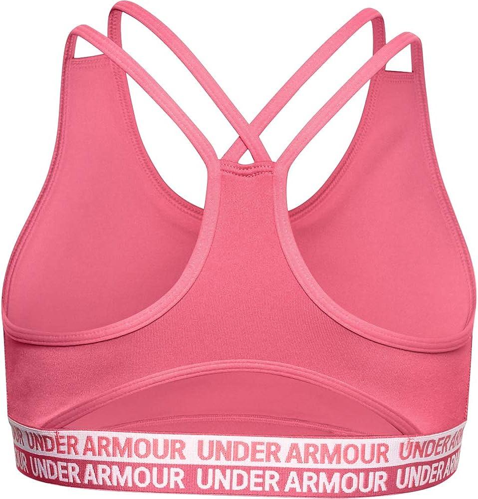 Under Armour Mädchen Heatgear Graphic Bra Girls Sport-BH schwarz NEU