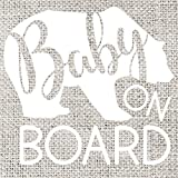 Baby on Board Vinyl Decal, 5'' x 5''