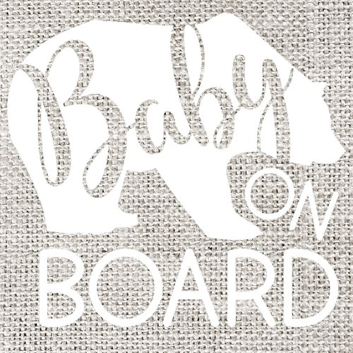 Baby on Board Vinyl Decal, 5'' x 5'' by Created To Shine
