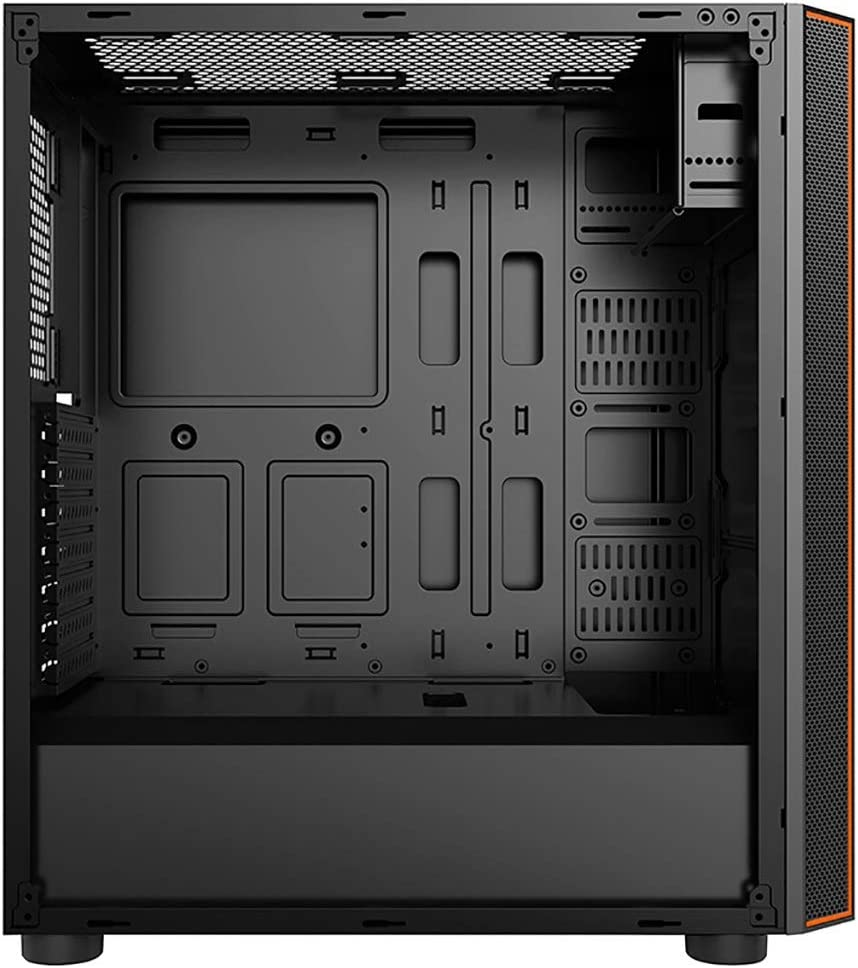 Color : Black Mid-Tower ATX Computer case Black XZ15 Carbide Series Tempered Glass Side Panel air Cooled