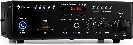 auna Amp4 BT - Amplificador de Equipo estéreo , Amplificador Hi-Fi ...